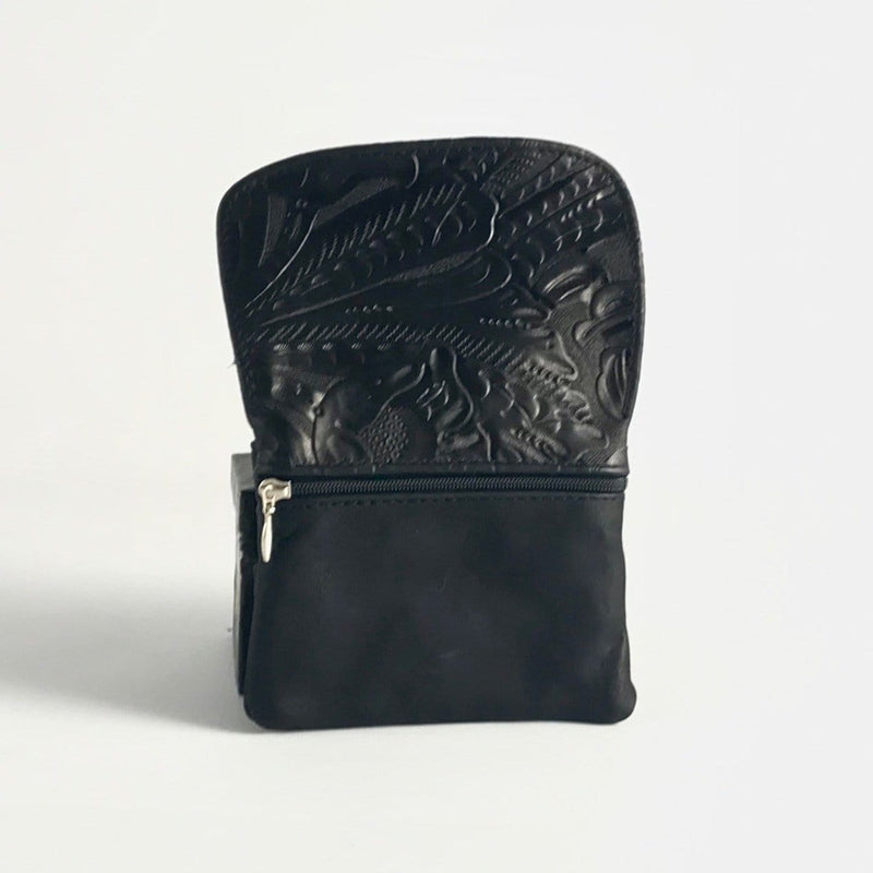 Mini Leather Clutch Flap Wallet MWL