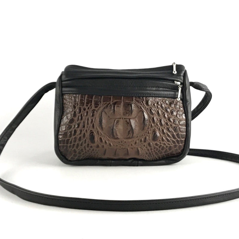 Leather CrossBody Satchel Purses in 2 sizes