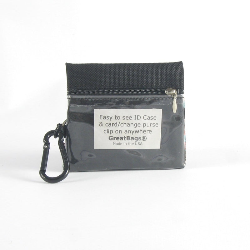 Two zipper change & card wallet with ID window - T7ID