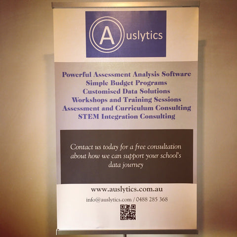 Our new Auslytics banner will be on display at our upcoming conferences
