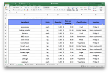 Load image into Gallery viewer, Food Budget Spreadsheet - School site licence