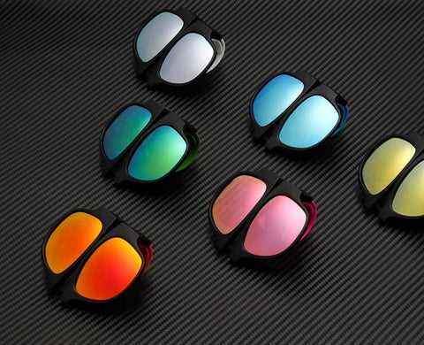 Color Frame Polarized Bracelet-Style Fold-able Sun Glasses