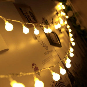Fairy Garland LED Ball String Lights Waterproof For Christmas Tree Wedding Home Decoration