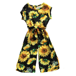 Baby Girls Floral Romper Sunflower Outfits Clothes 1-6T