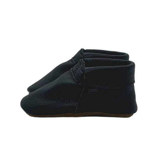 Jett Black Baby Shoes | Soft Sole