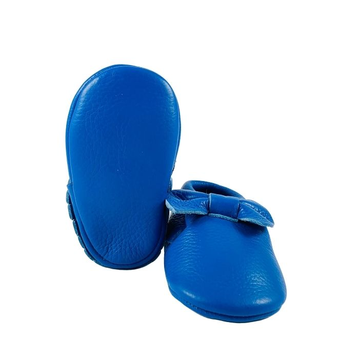 Electric Blue Bow | Soft Sole