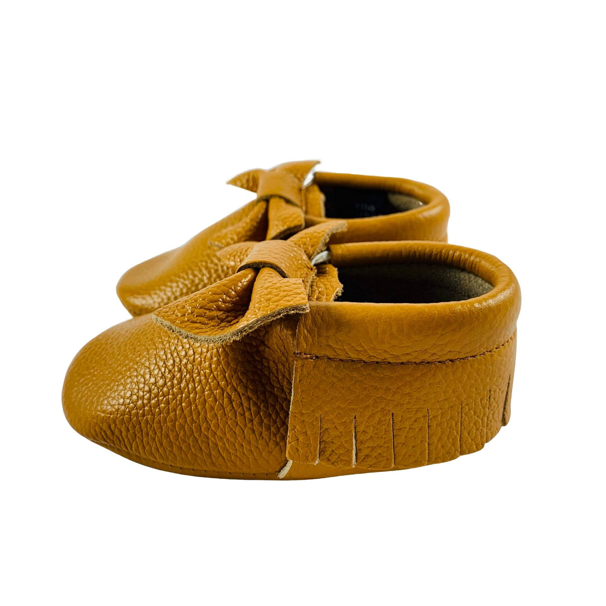 Grippies-Toddler-Shoes-Caramel-Bow-Side-view.