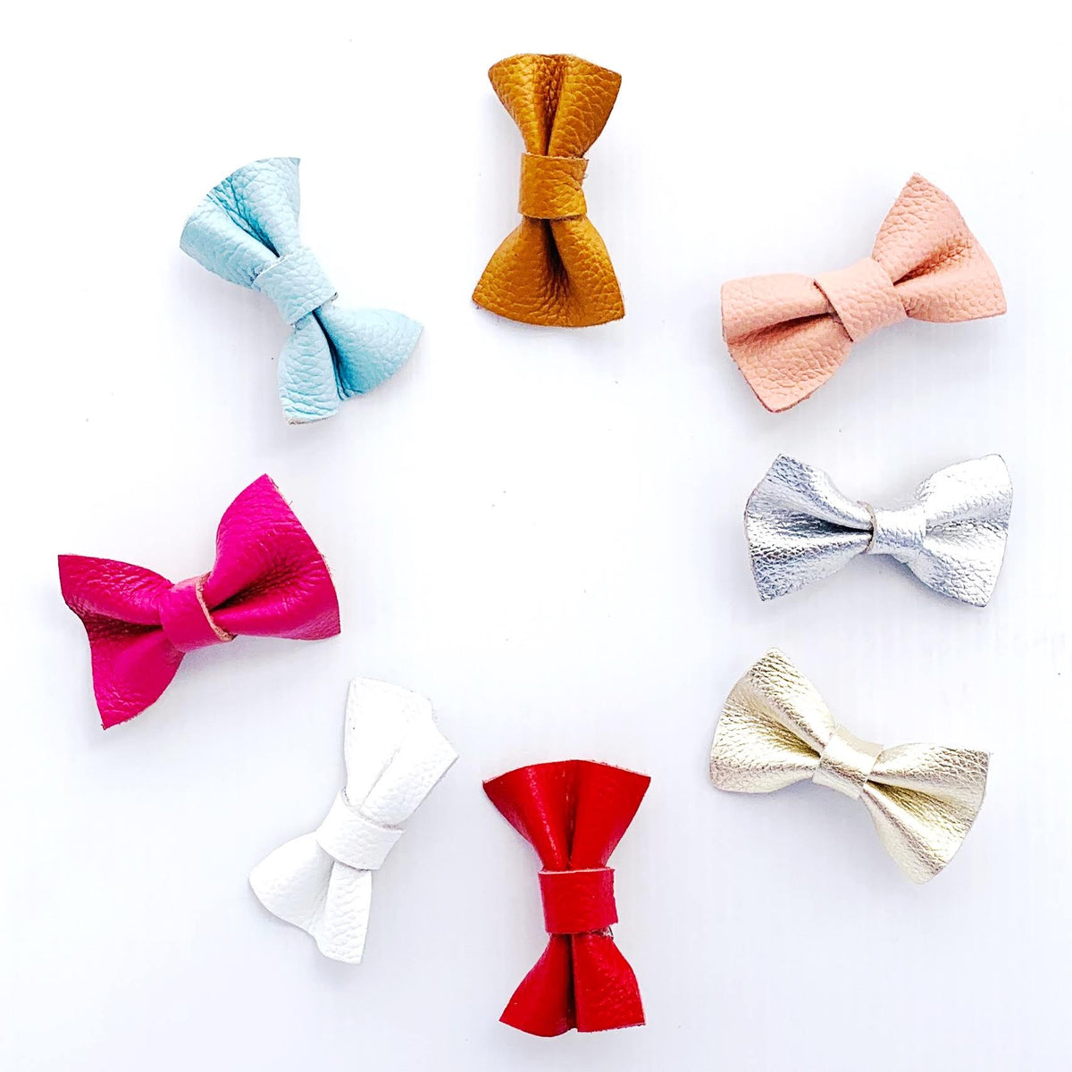 Little Leather Hair Bows