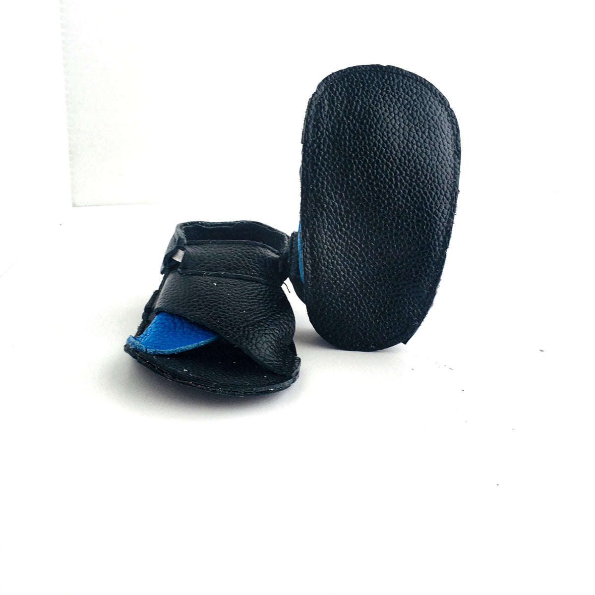 Cross Soft Sole Sandal Sole View Blue Black