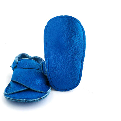 Cross Soft Sole Sandal Sole View Electric Blue