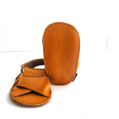 Cross Soft Sole Sandal Sole View Caramel Colour
