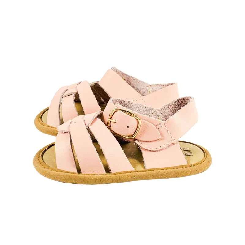 Soft Sole Kids Sandal Side View Pink Colour