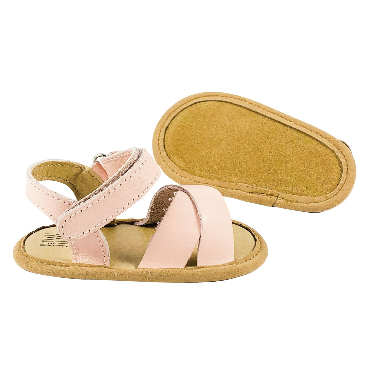 Leather-Toddler-Sandals-Sole-View-Pink-Colour