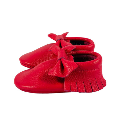Bow Baby Soft Sole Shoes Melon Side View