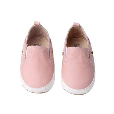 Sneakies Soft Sole Toddler Shoes above view pink