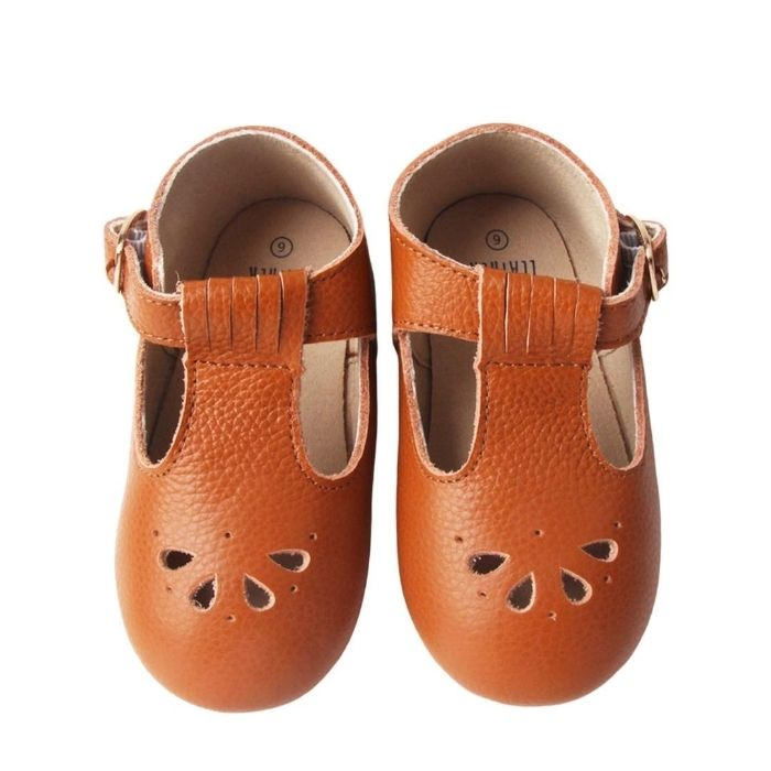 Caramel Baby T Bar Shoes | Soft Sole