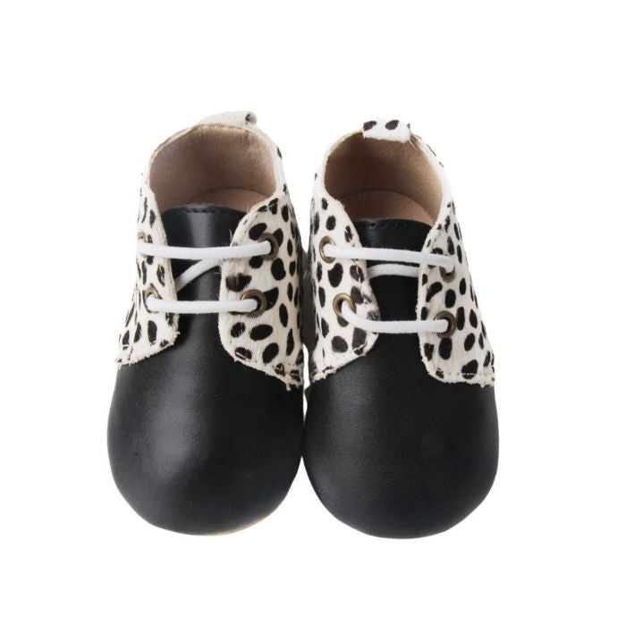 Toddler Boots Animal Print Grip Sole above view