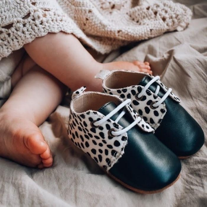 Animal Print Baby Oxfords | Soft Sole