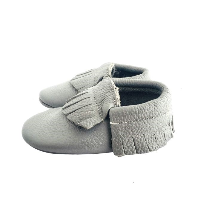 Grey Moccasin Soft Sole Shoes side view