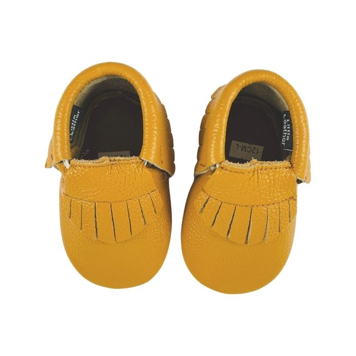 Sweet Caramel Baby Moccasins | Soft Sole