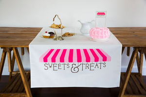 Pink Sweets & Treats Table Banner