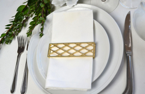 Small Trellis Wrap SET(4) - Matte Gold