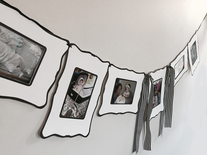 Black & White Frame Garland