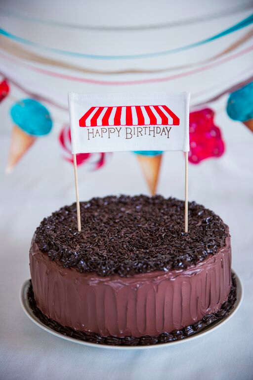 Red Sweets Cake Banner