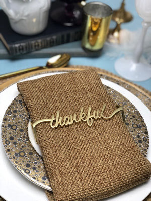 Thankful Wrap Matte Gold