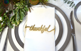 Thankful Wrap SET(4) - Matte Gold