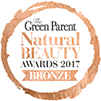 Green parent natural beauty awards badge