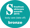 Free from skincare awards badge