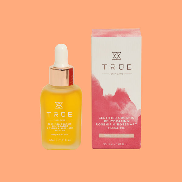 True Organic Rehydrating Rosehip & Rosemary Facial Oil