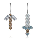 Mycraft Sword and Pick Earrings | 9K Gold