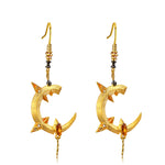 Dragon Cutlass Earrings | 925 Silver + Synthetic Zircon