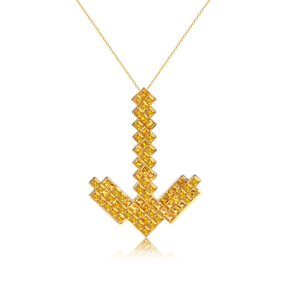 Pixel Pick Necklace | 18K Gold