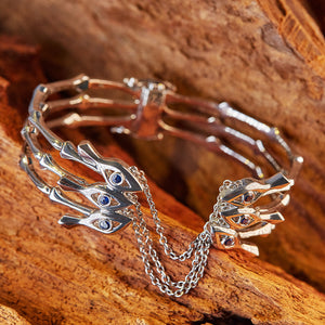 Eye-of-Knowing Bangle | 925 Silver