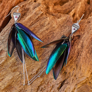 Tri-force Bug Earrings | 925 Silver