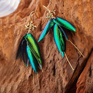 Eyes-of-Truth Bug Earrings | 9K Gold or  925 Silver