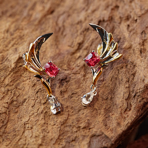 Dragon Axe Earrings | 18K Gold or 925 Silver