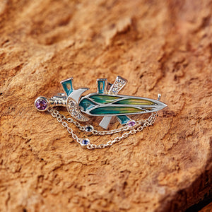 The Fourth Sword Brooch | 18K Gold or 925 Silver