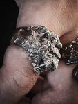 Majestic Roaring Alpha Male Lion Head Ring | 925 Silver