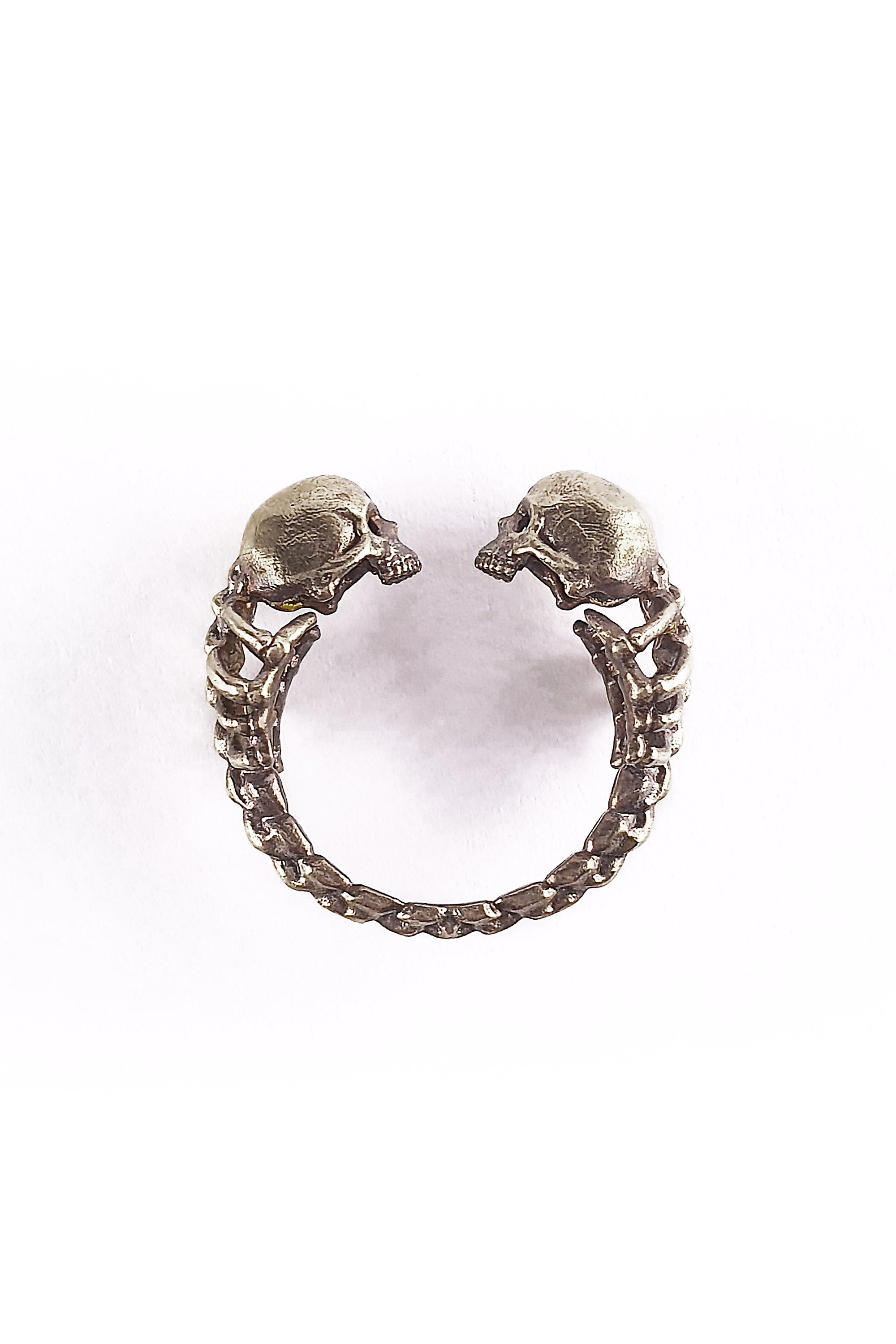 Adjustable Lovers of Valdaro Skull Ring | Engagement Ring | Lovers Ring