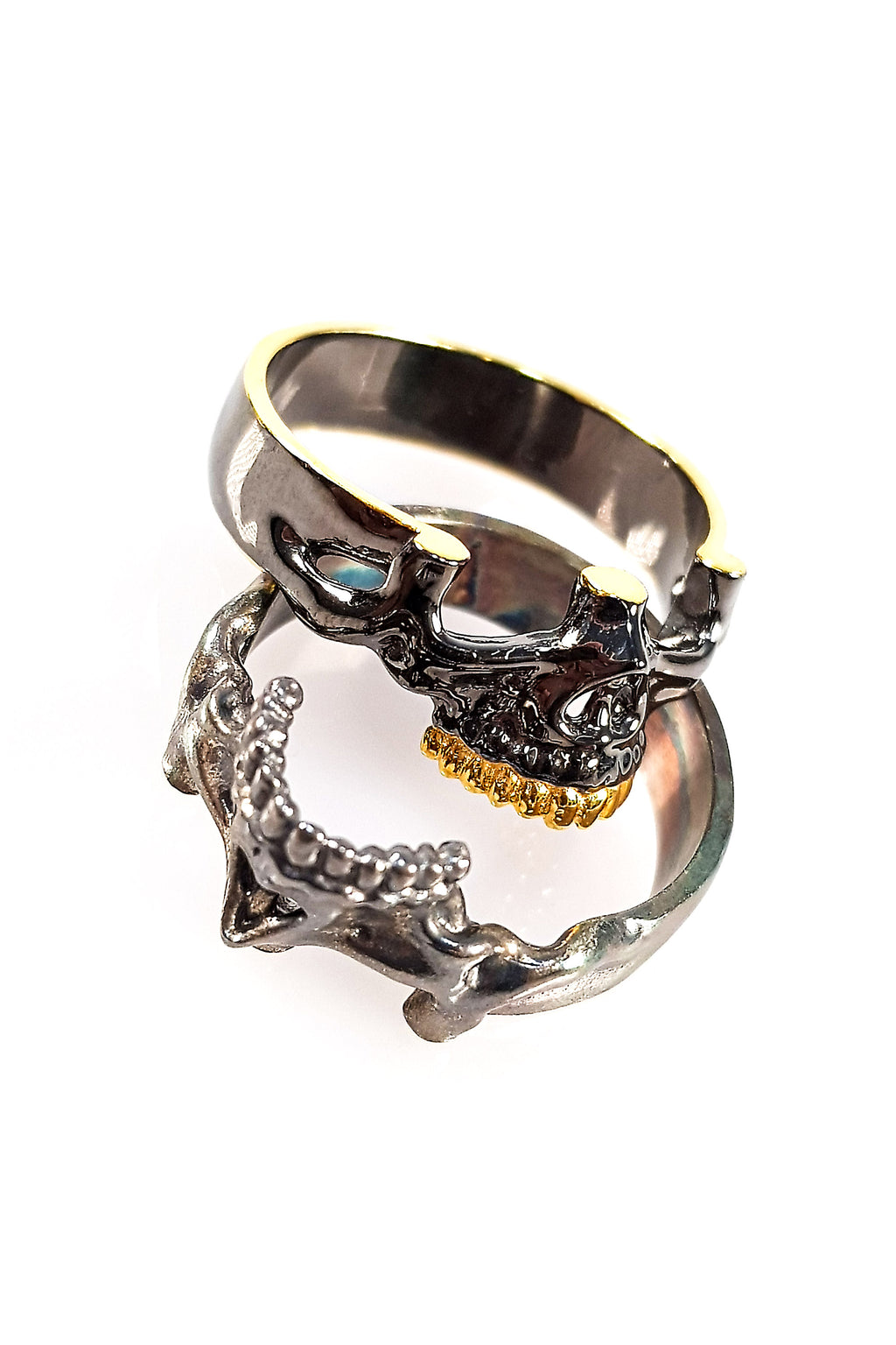 Stackable Sterling Silver Skull Ring | Skull Band Ring