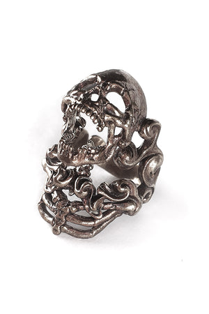 Water Spirit Sterling Silver Skull Ring