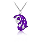 Zen Koi Necklace | Sterling Silver + Purple Epoxy Enamel