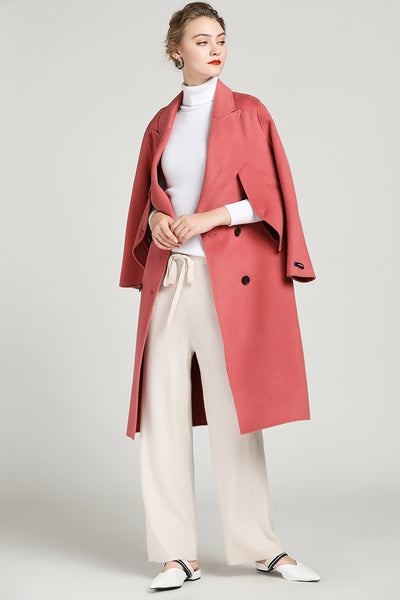 Cashmere Blend Coat With Open Pockets