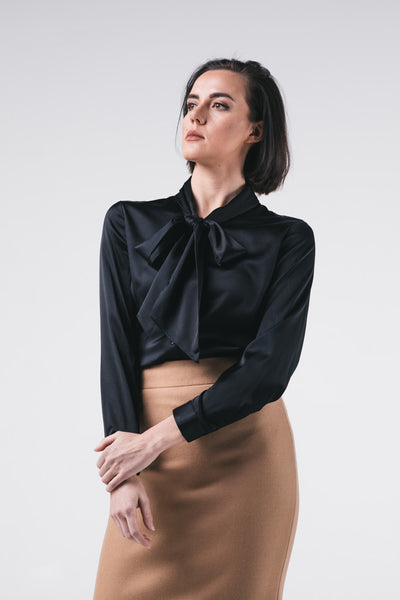 Silk Blouse With Bow