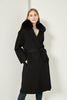 Cashmere Coat with Detachable Collar