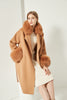 Cashmere Coat with Detachable Collar and Cuffs